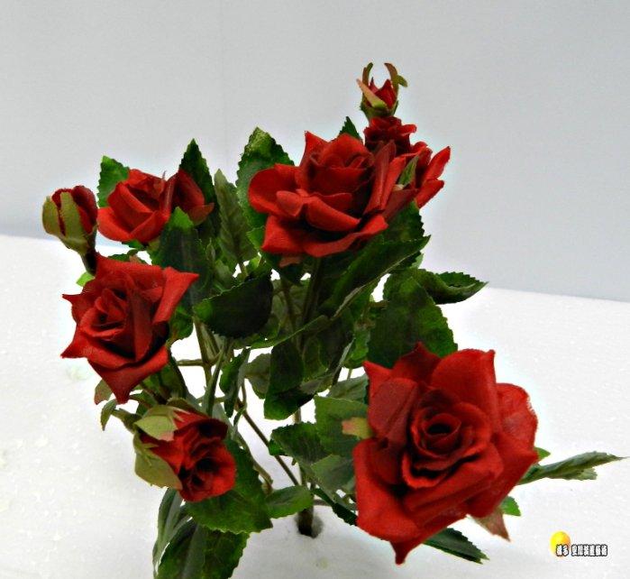[橘子空間裝置藝術] 紅色 神奇小型玫瑰花花束☆ 人造花.插花配件.居家.店面.櫥窗.玄關.大廳擺飾.園藝資材.用品☆