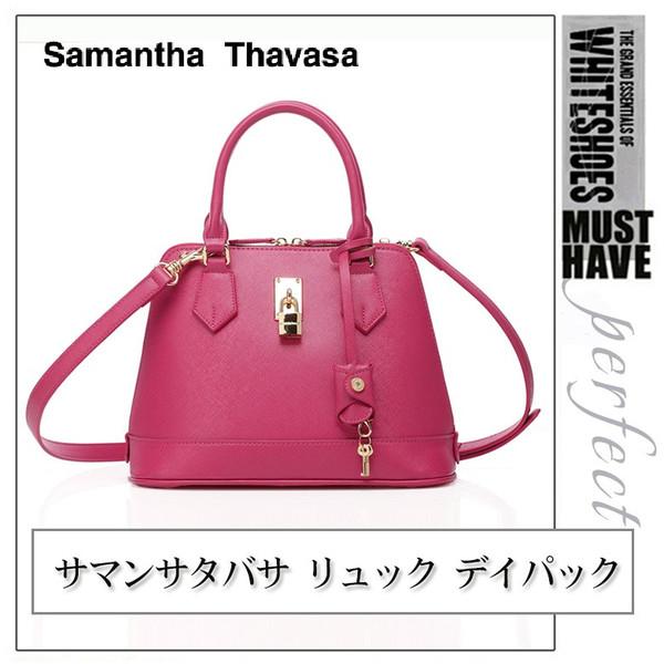 【真愛日本】15062400042 Samantha Thavasa經典鎖頭包-桃紅  手提包 側背包 正品 預購