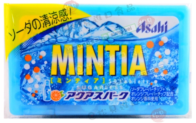 朝日MINTIA清涼蘇打喉糖7g【4946842520787】