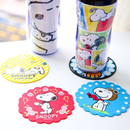 正版史努比止滑杯墊 茶杯杯墊 軟膠 防滑杯墊 隔熱墊 Snoopy 史奴比 另有迪士尼【B060651】