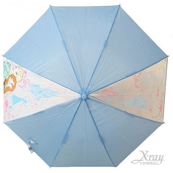 X射線【C149250】冰雪奇緣兒童直傘(藍) ,雨傘/雨具/晴雨兩用