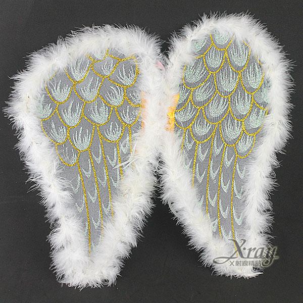 X射線【W416231】羽毛天使翅膀-白,萬聖節服裝/派對用品/尾牙表演/舞會道具/角色扮演都合適~