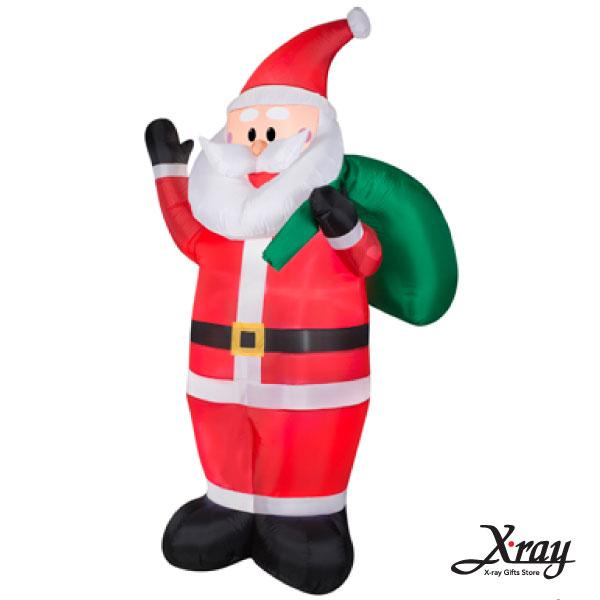 X射線【X007817】213CM聖誕老公公揹禮物充氣,聖誕佈置造景/充氣擺飾好收納/聖誕充氣
