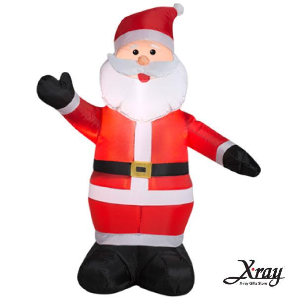 X射線【X007821】122CM舉右手老公公充氣(黑手套),聖誕佈置/充氣擺飾好收納/聖誕充氣