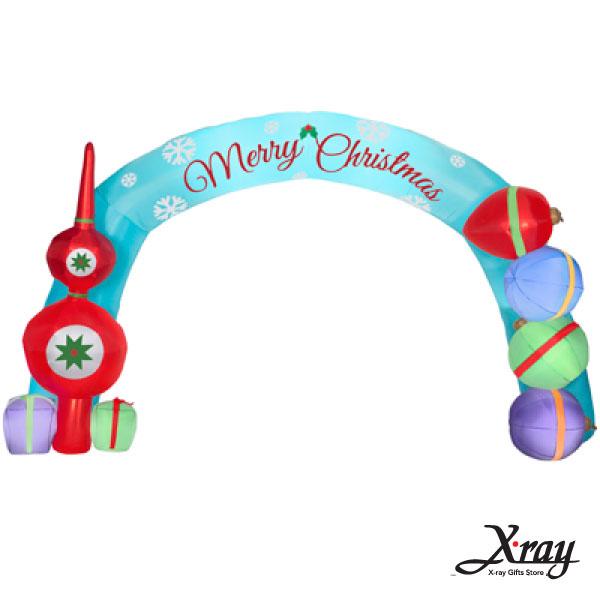 X射線【X007822】325CM雪花片聖誕拱門充氣,聖誕佈置/充氣擺飾好收納/聖誕充氣