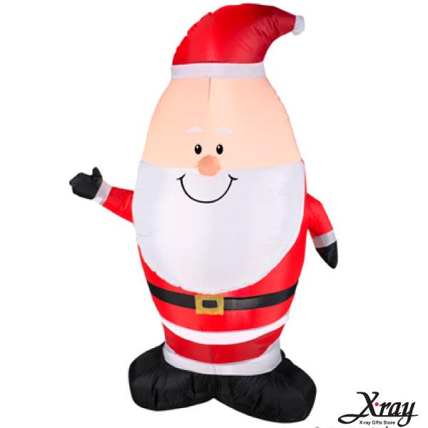 X射線【X007834】107CM聖誕小老公公舉右手充氣,聖誕佈置/充氣擺飾好收納/聖誕充氣
