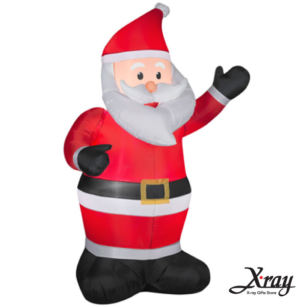 X射線【X007836】152CM聖誕老公公舉左手充氣(黑手套),聖誕佈置/充氣擺飾好收納/聖誕充氣