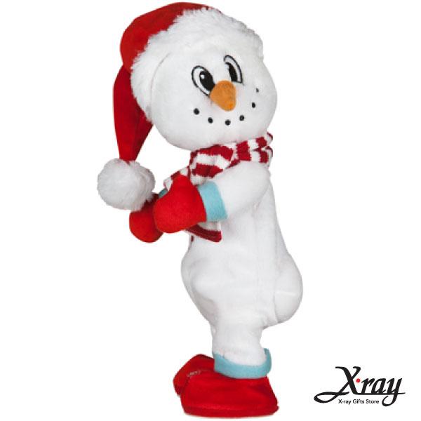 X射線【X007840】35CM電臀雪人(唱歌扭臀),聖誕佈置/充氣擺飾好收納/聖誕充氣