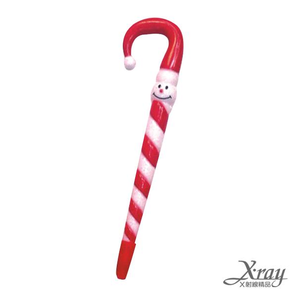 X射線【X241060】笑臉拐杖筆,聖誕節/聖誕擺飾/聖誕佈置/聖誕造景/聖誕裝飾