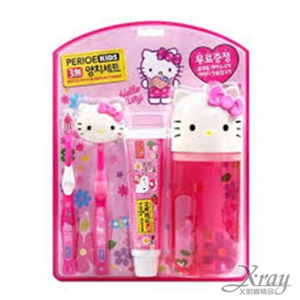 X射線【C010626】Hello Kitty 造型牙刷組,盥洗/卡通/可愛日式