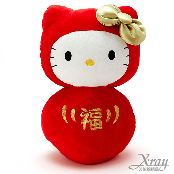 X射線【C090515】Hello Kitty 絨毛娃娃-達摩,絨毛娃娃/情人節/婚禮小物