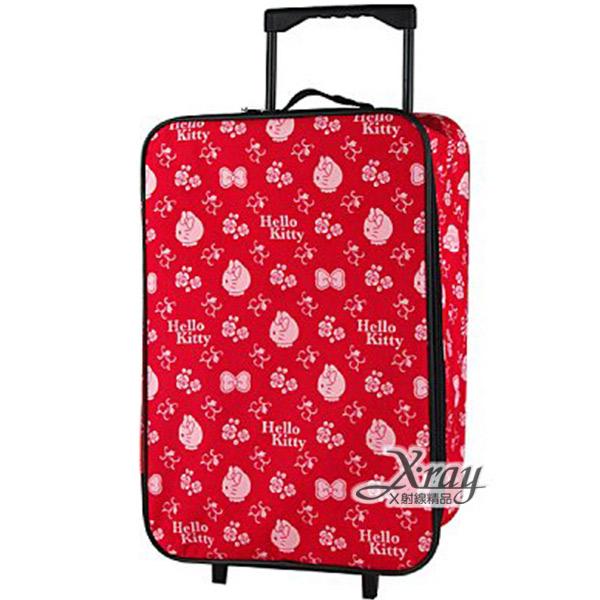 X射線【C010007】Hello Kitty20吋折疊行李箱(紅),旅行箱/行李箱/拉桿箱/購物箱