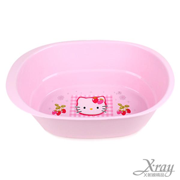 X射線【C170458】HelloKitty泡腳盆(大臉/橢圓),臉盆/盥洗用品/衛浴用品/浴室