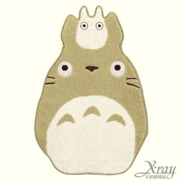 X射線【C211800】TOTORO 龍貓造型毛巾-綠,浴巾/毛巾/盥洗小物/龍貓/宮崎駿