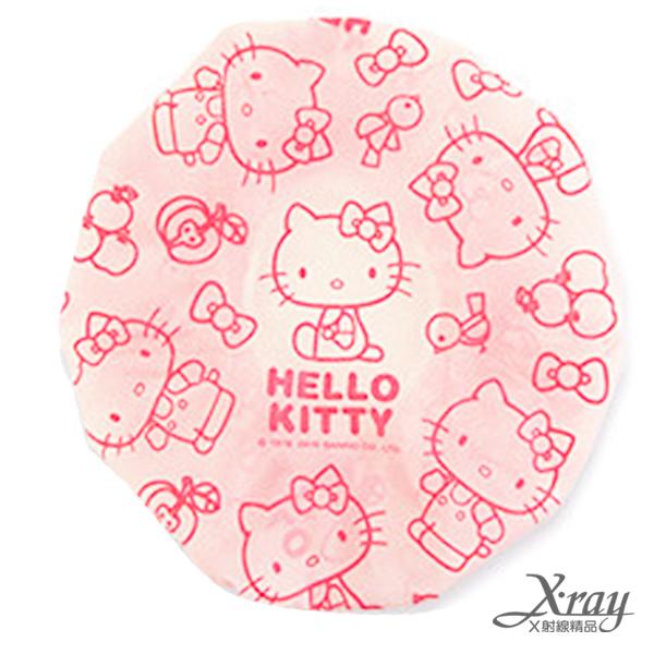 X射線【C263871】Hello Kitty浴帽(粉),衛浴用品/台灣製/敷臉/護髮浴帽