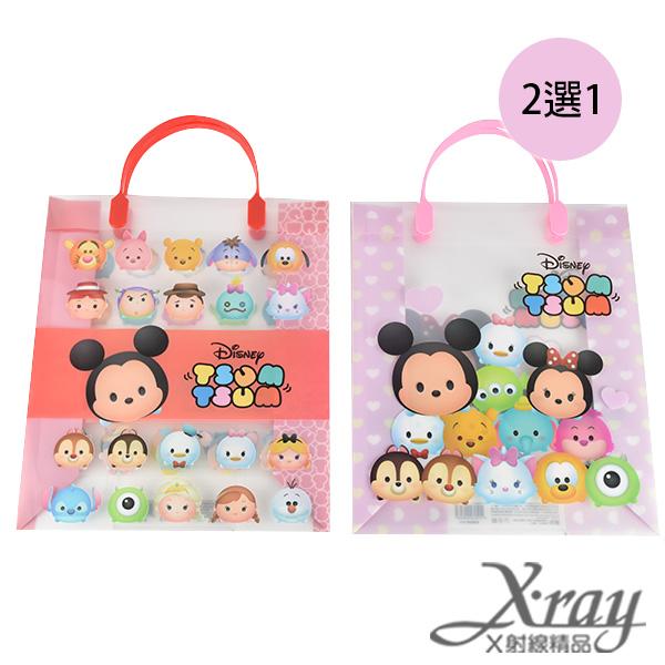 X射線【C496485】迪士尼Tsum Tsum PP手提袋-紅.粉紅(2選1),書袋/購物袋/便當袋/手提袋/開學必備