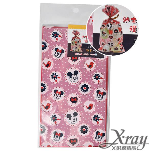 X射線【C101227】米奇米妮透明禮物袋(小)-紅,送禮/包裝/手工餅乾