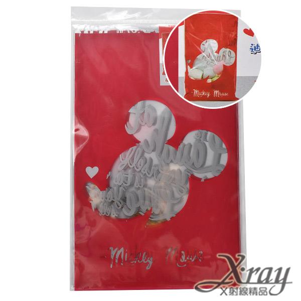 X射線【C101265】米奇透明禮物袋(中)-紅,送禮/包裝/手工餅乾/糖果袋