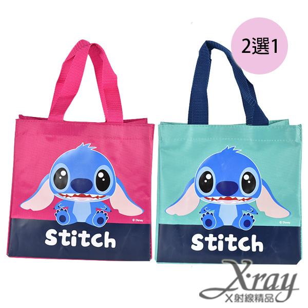X射線【C848803】史迪奇尼龍布提袋-藍.粉紅(2選1),書袋/購物袋/便當袋/手提袋/開學必備