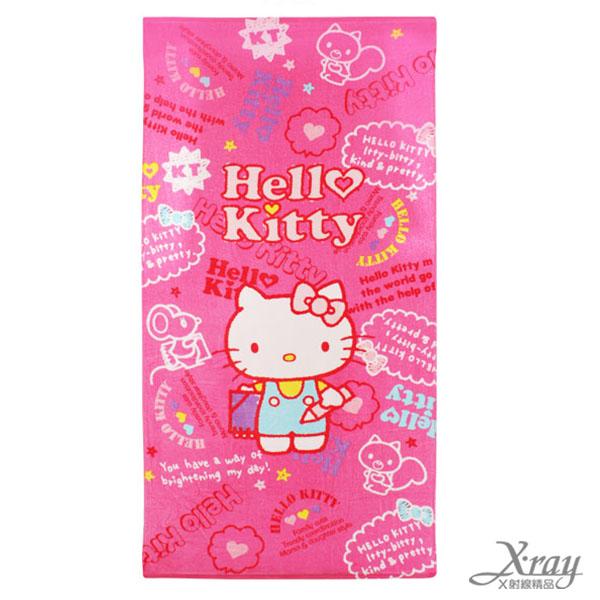 X射線【C252174】Hello Kitty 童巾-寫生,洗澡巾/紗布巾/毛巾/開學必備/攜帶方便