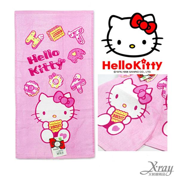 X射線【C253850】Hello Kitty 童巾-甜點餅乾,洗澡巾/紗布巾/毛巾/開學必備/攜帶方便