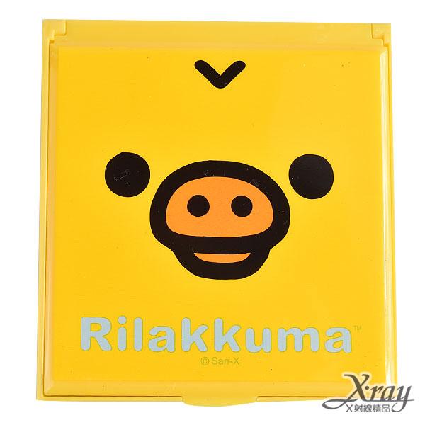X射線【C192584】懶熊小雞大臉折疊立鏡(小),方鏡/化妝鏡/桌上鏡/隨身鏡/摺疊鏡