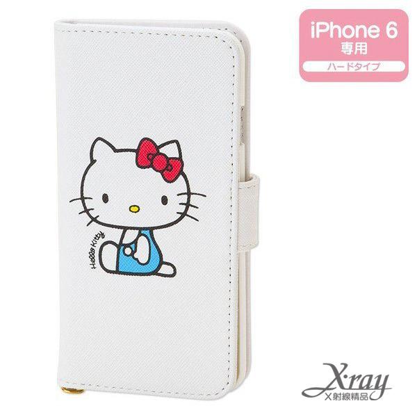 X射線【C089217】HelloKitty掀蓋式皮套iPhone6(白),手機殼/手機套/智慧型手機