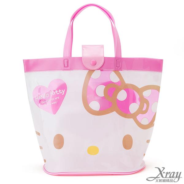 X射線【C267523】Hello Kitty 水桶提袋-臉,提袋/手提包/包包/帆布包