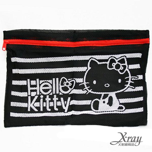 X射線【C105964】HelloKitty旅行用網眼包(L),收納袋/文具袋/盥洗旅行用小物包