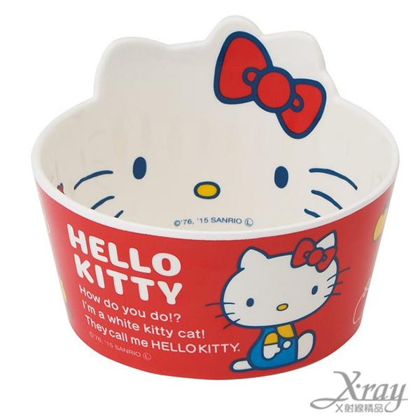 X射線【C341243】Hello Kitty 美耐皿造型碗(450ML),湯碗/飯碗/餐具/陶瓷杯/玻璃碗/開學