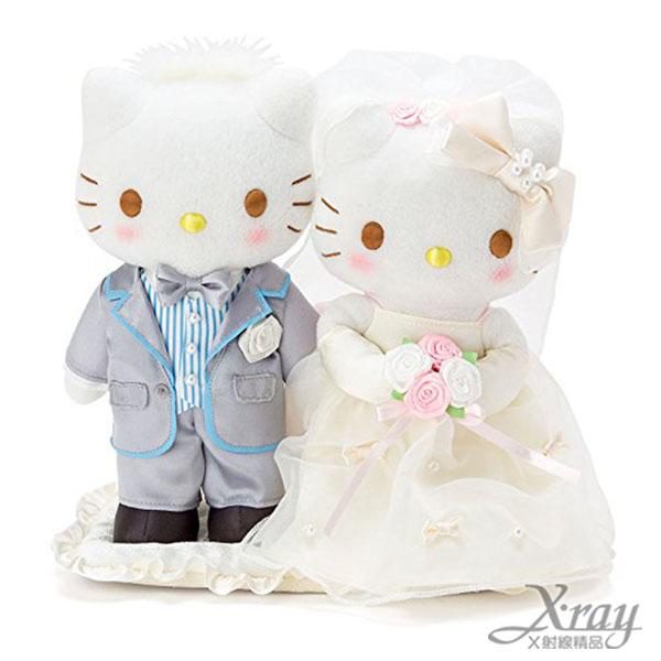 X射線【C607954】Hello Kitty 結婚絨毛娃娃,絨毛娃娃/情人節/婚禮小物