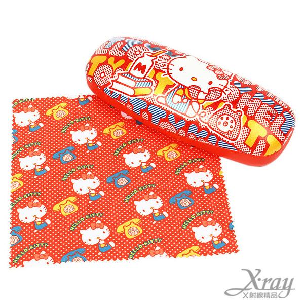 X射線【C853308】Hello Kitty眼鏡盒(附眼鏡布),眼鏡/收納/日式/可愛/
