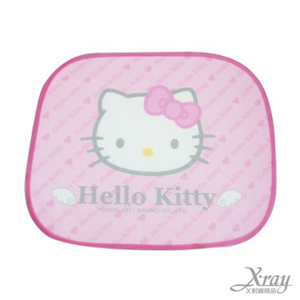 X射線【C541558】Hello Kitty 車窗用遮陽板(粉 2入),汽車配件/車用必備