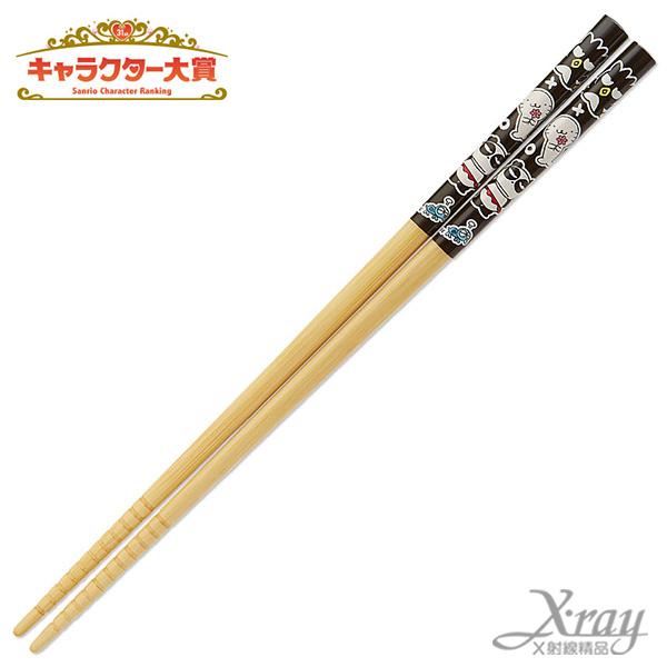 X射線【C567289】酷企鵝竹筷-黑,筷子/環保/開學/便當盒/衛生