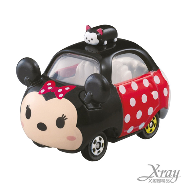 X射線【C840497】迪士尼TSUMTSUM 米妮車車,模型車/造型車/玩具車/挖土車