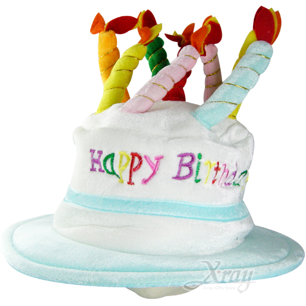 X射線【W100112】可愛蛋糕帽(淺藍色),萬聖節/Party/角色扮演/化妝舞會/表演造型都合適~
