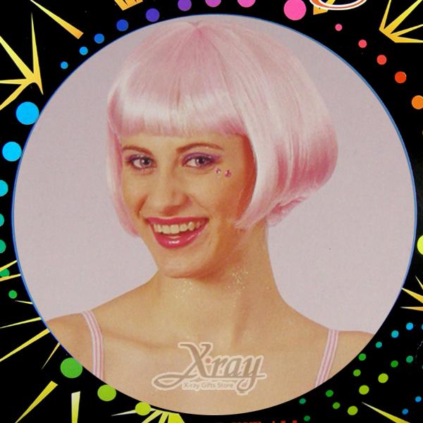 X射線【W300043】豬哥亮假髮(粉紅色),萬聖節/尾牙/PARTY變裝/化妝舞會/表演