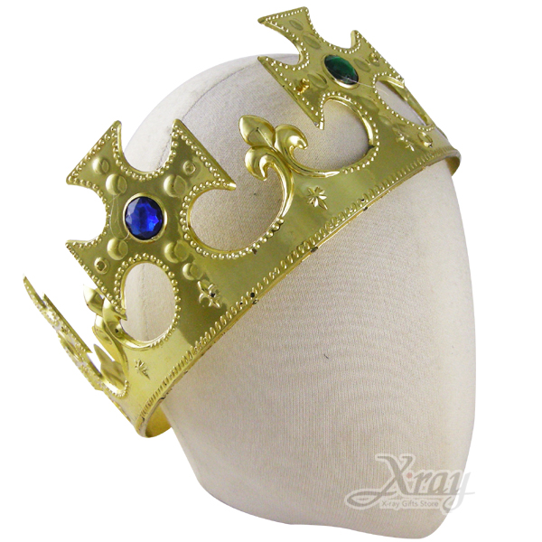 X射線【W906748】國王皇冠(金色),萬聖節/Party/角色扮演/化妝舞會/表演造型都合適~