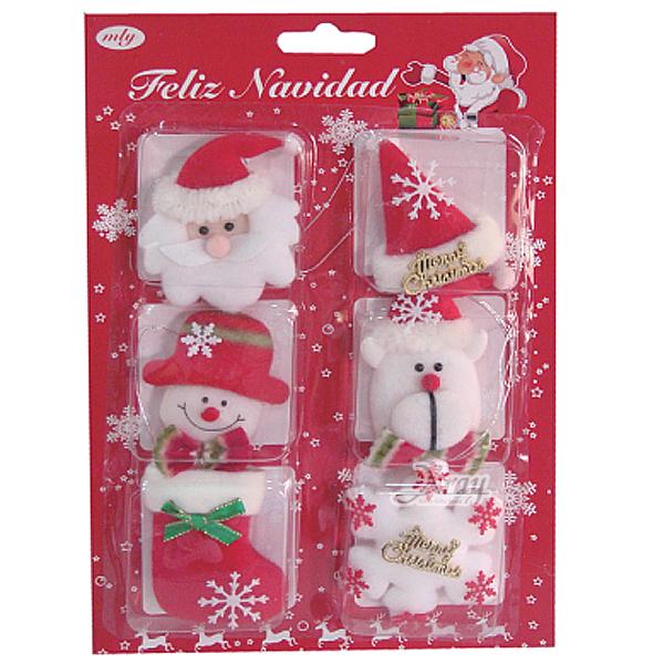 X射線【X293016】聖誕小吊飾6入(A款),聖誕佈置/聖誕掛飾/裝飾/吊飾/聖誕樹