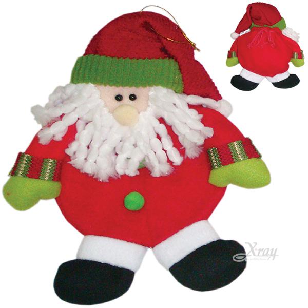 """X射線【X295263】12""""聖誕老公公人偶禮物袋束袋,佈置裝飾/聖誕襪/聖誕吊飾/聖誕裝"""