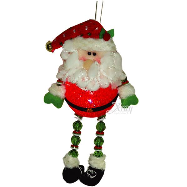 "X射線【X295418】11""LED聖誕老公公玩偶吊飾,聖誕佈置/聖誕掛飾/裝飾/吊飾/聖誕樹"