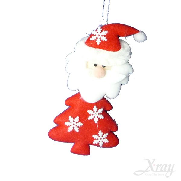 """X射線【X644665】4.5""""雪花聖誕樹吊飾(老公公),聖誕佈置/聖誕掛飾/裝飾/吊飾/聖誕樹"""