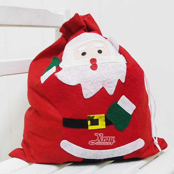 X射線【X040002】聖誕老公公袋,聖誕帽/聖誕衣/聖誕襪/聖誕禮物袋/聖誕老人衣服