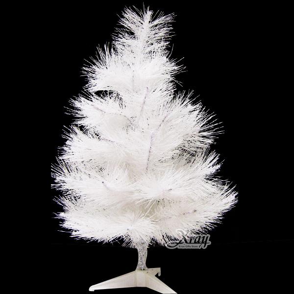 X射線【X030010】2呎松針樹(白色),聖誕樹空樹/聖誕佈置/擺飾/聖誕飾品