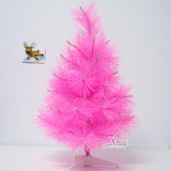 X射線【X030015】2呎松針樹(粉),聖誕樹空樹/聖誕佈置/擺飾/聖誕飾品/聖誕造景