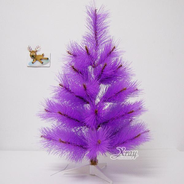 X射線【X030014】2呎松針樹(紫色),聖誕樹空樹/聖誕佈置/擺飾/聖誕飾品