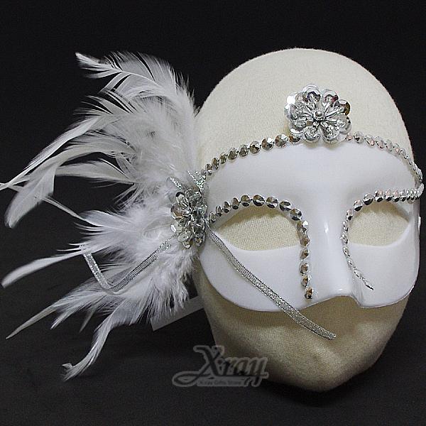 節慶王【W402883】魅惑女王面具B款(白色),化妝舞會/表演造型/尾牙表演/聖誕節/派對道具