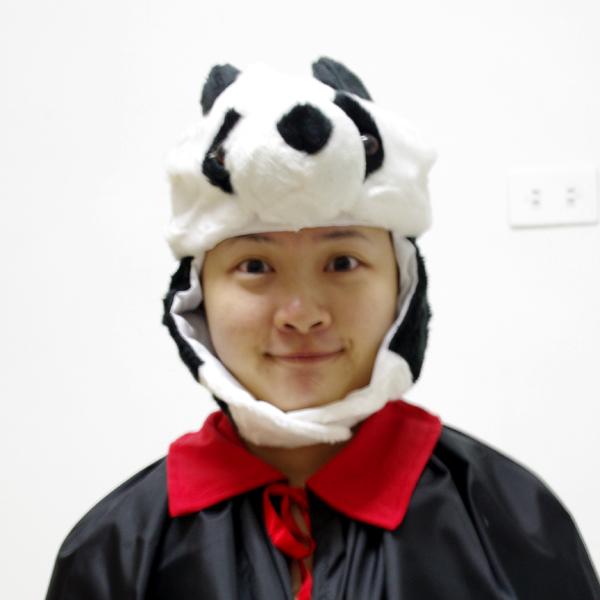 X射線【W010022】貓熊動物帽,化妝舞會/角色扮演/尾牙表演/萬聖節服裝/聖誕節/cosplay