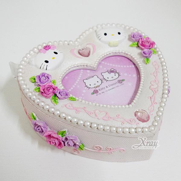 X射線【C013518】Kitty心型相框置物盒,卡通/相框/擺飾/情人節/聖誕節/送禮/婚禮小物/文具/辦公用品