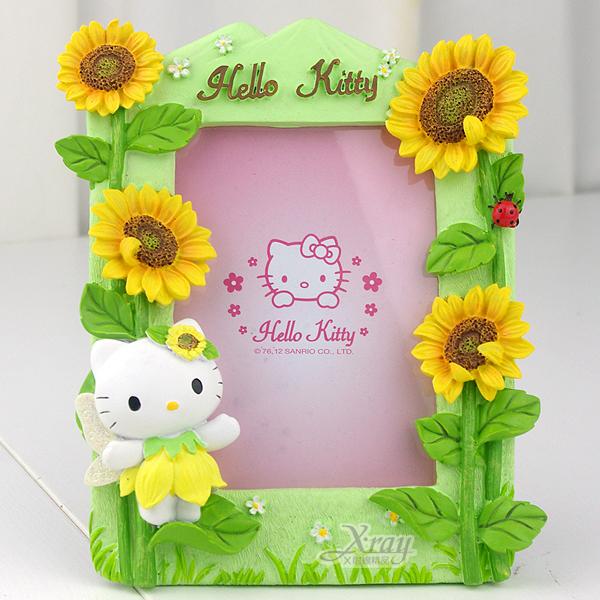 X射線【C030492】Kitty太陽花4X6相框(黃),卡通/裝飾/擺飾/送禮/辦公用品/畢業禮物/家庭雜貨/婚禮小物